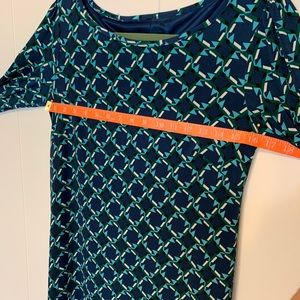 Laundry By Shelli Segal Dresses - Blue and Green Geometric Pattern Dress by Laundry